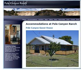 Pole Canyon Ranch Guest House website