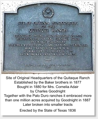 Quitaque Ranch Headquarters Marker