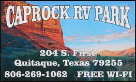 Caprock RV Park website