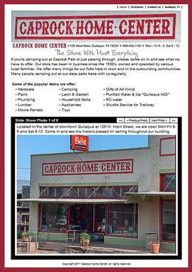 Caprock Home Center Website