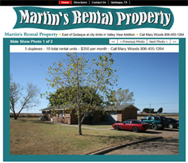 Martin's Rental Property Website